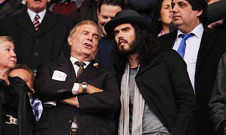 West Ham: Russell Brand and Trevor Brooking