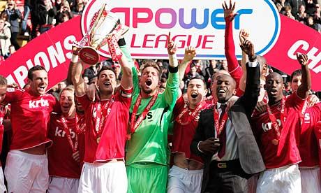 Charlton celebrate