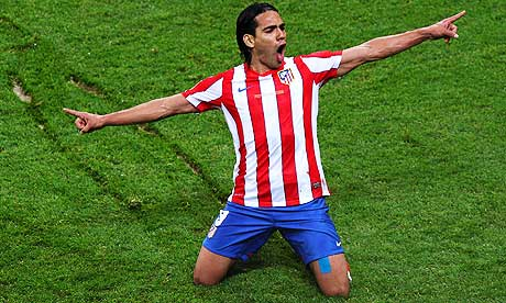 Radamel Falcao Atletico Madrid vs Athletic Bilbao