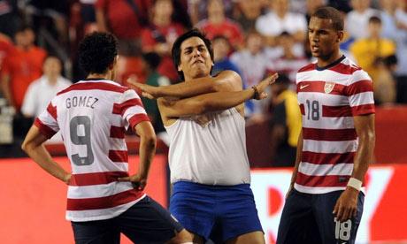 USA players and intruder