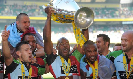 Harlequins celebrate Premiership final