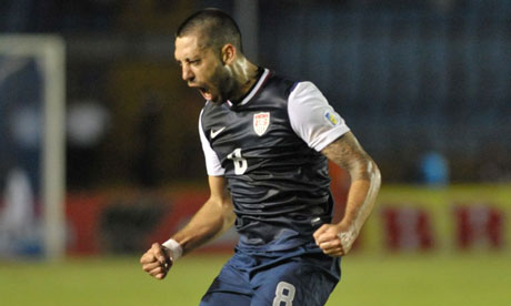 USA's Clinton Dempsey celebrates vs Guatemala