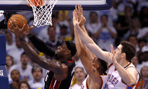 Miami Heat's LeBron James vs Oklahoma City Thunder