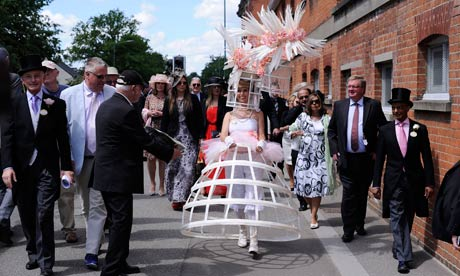 Lifestyle Auto Horse Racing on Anneka Tanaka Svenska Wears A Bird Cage Outfit Created By Milliner