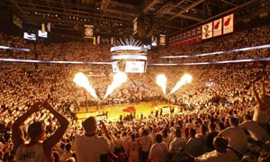 Miami Heat fans and fire