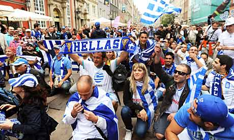 Greece fans in Gdansk