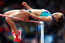 Jessica Ennis leaps to victory in the high jump