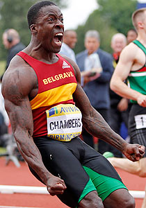 Dwain Chambers: quite happy
