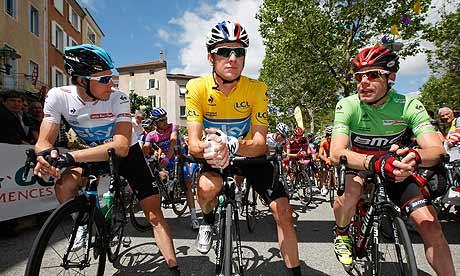 Bradley Wiggins Cadel Evans Edvald Boasson Hagen