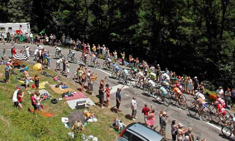 The pack of riders on stage 11 of the Tour de France