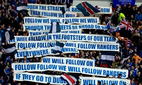Supporters of Glasgow Rangers