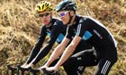 Bradley Wiggins and Chris Froome of Team Sky
