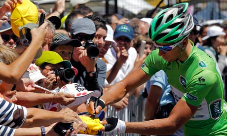 Peter Sagan with some pre-watershed autograph work