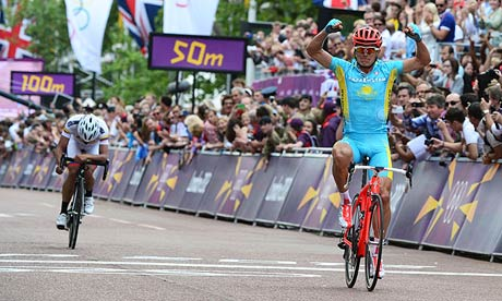Alexandr Vinokourov wins Olympic gold as Team GB hopes are dashed