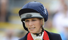 Great Britain's Zara Phillips rides on her horse