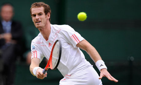 Andy Murray volleys