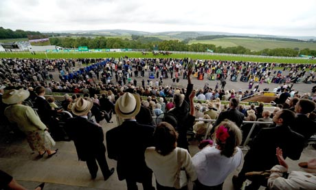 Crowds in the Goodwood stands