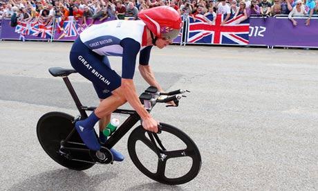 Bradley Wiggins in action