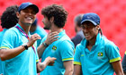 Neymar and Thiago Silva