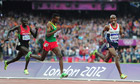 Great Britain's Mo Farah winning the 5,000m final