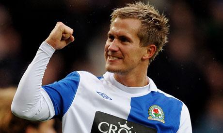 Blackburn's Morten Gamst Perdersen in action