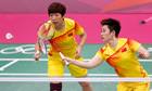 Yu Yang and Wang Xiaoli in action