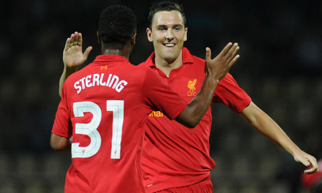 Stewart Downing and Raheem Sterling
