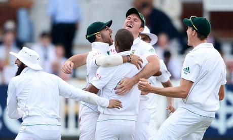 South Africa celebrate