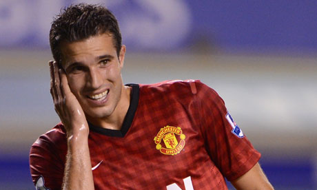 Robin van Persie gets a taste of the task ahead at United | Football