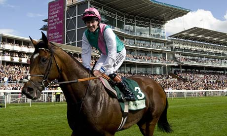 Frankel in front of the stands