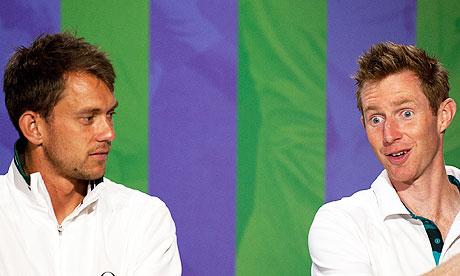 Jonny Marray, right, and Freddie Nielsen