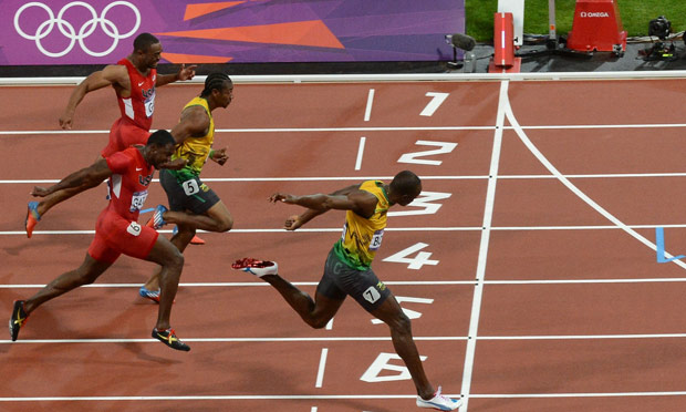 Usain Bolt wins 100m; sets Olympic record