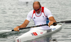 Tim Brabants finished last in the K1 1,000m