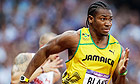 Yohan Blake won his 200m semi-final in 20.01secs at the London 2012 Olympic Stadium