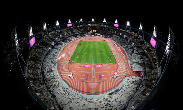 A general view of the Olympic Stadium this evening
