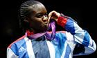 Nicola Adams kisses her gold medal