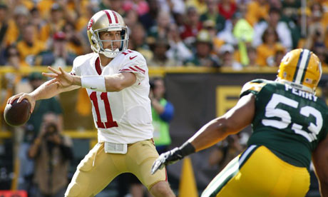 San Francisco 49ers' Alex Smith vs Green Bay Packers