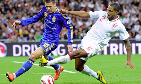 Yevhen Konoplyanka and Glen Johnson