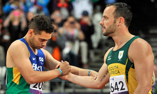 Alan Oliveira and Oscar Pistorius
