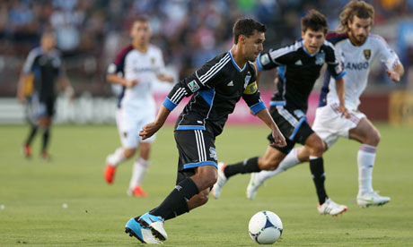 Chris Wondolowski of the San Jose Earthquakes in action against Real Salt Lake