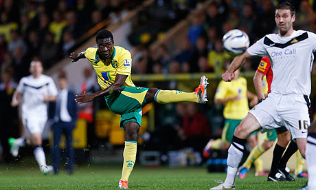 Alexander Tettey Norwich City v Doncaster Rovers