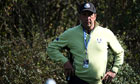 José María Olazábal endured a tough first day as captain of Europe's 2012 Ryder Cup team
