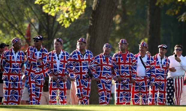 British fans at the Ryder Cup