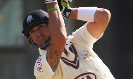 Kevin Pietersen in action for Surrey against Nottinghamshire at the Oval