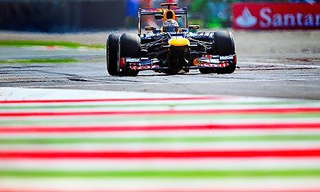 Sebastian Vettel during practice for the Italian Grand Prix