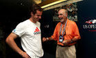 Andy Murray talks to Sir Sean Connery