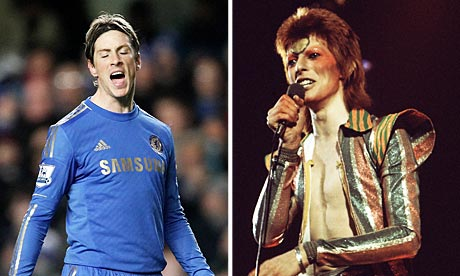 Fernando Torres, and David Bowie
