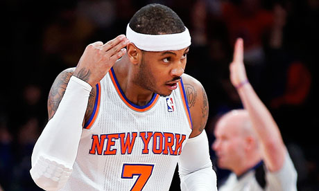 Carmelo Anthony is set to featur for the New York Knicks when they face the Detroit Piston in London