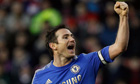 Chelsea's Frank Lampard celebrates scoring his side's third goal in the 4-0 victory at Stoke
