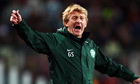 Gordon Strachan won three consecutive league titles while in charge of Celtic